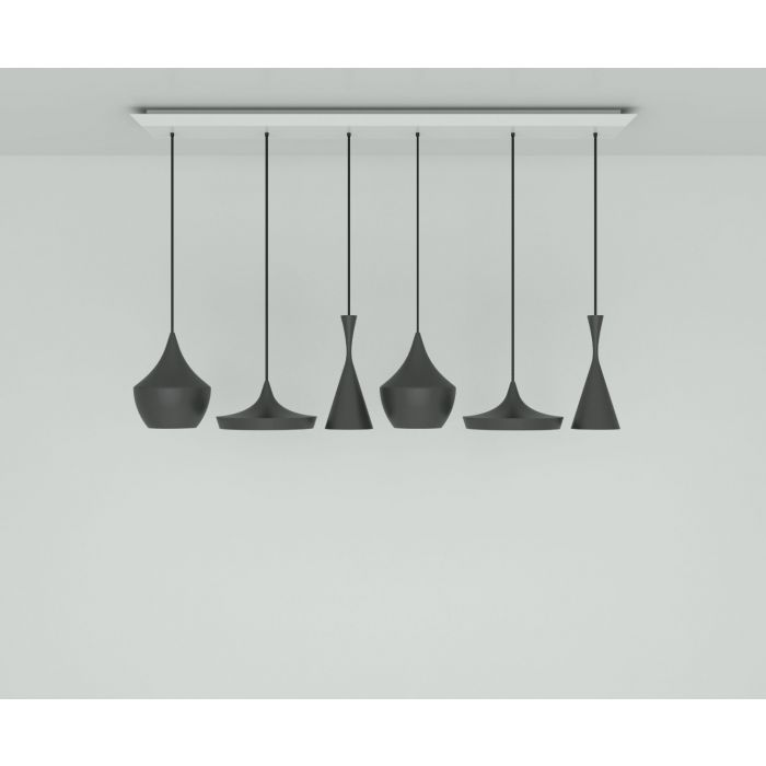Beat LED Black Range Linear Pendant System