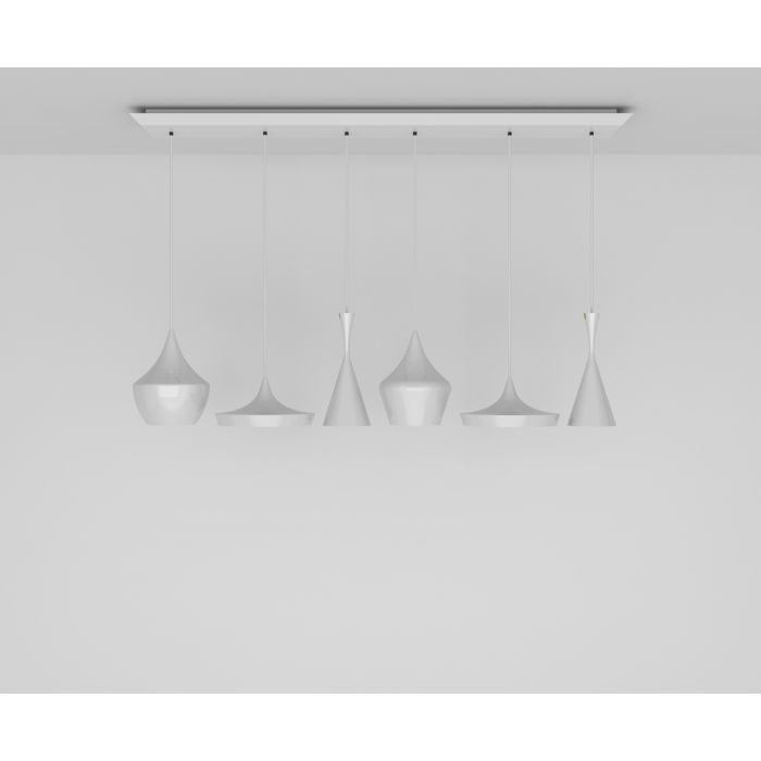 Beat LED White Range Linear Pendant System