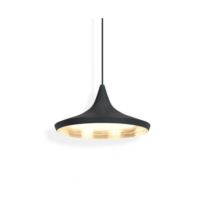 Beat LED Wide Pendant Black
