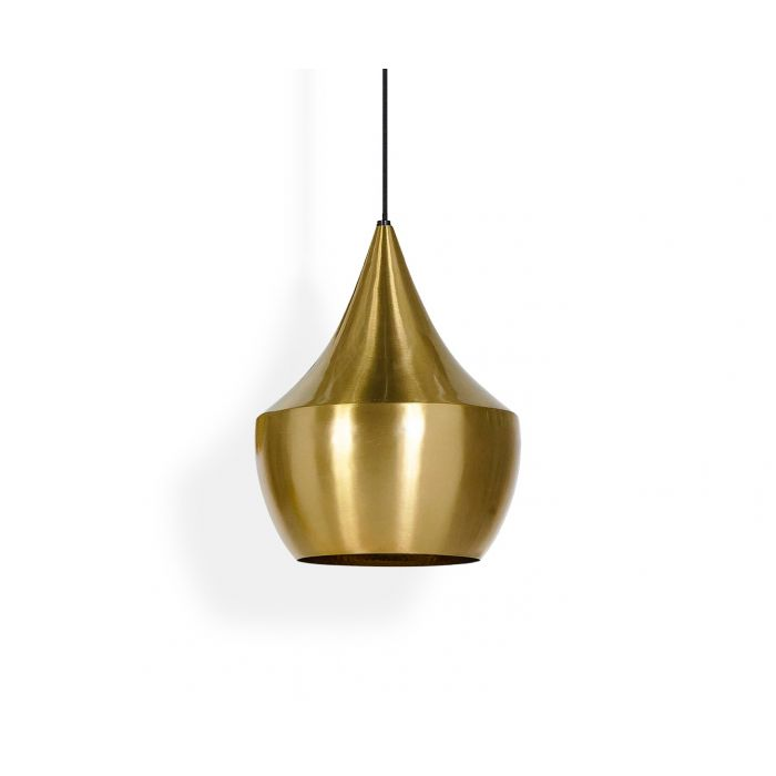 Beat LED Fat Pendant Brass