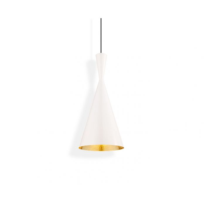 Beat LED Tall Pendant White