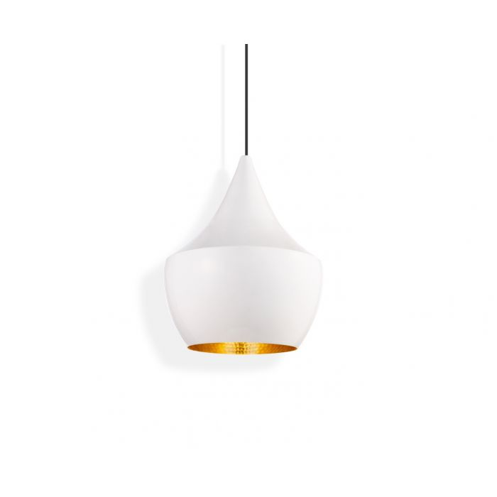 Beat LED Fat Pendant White
