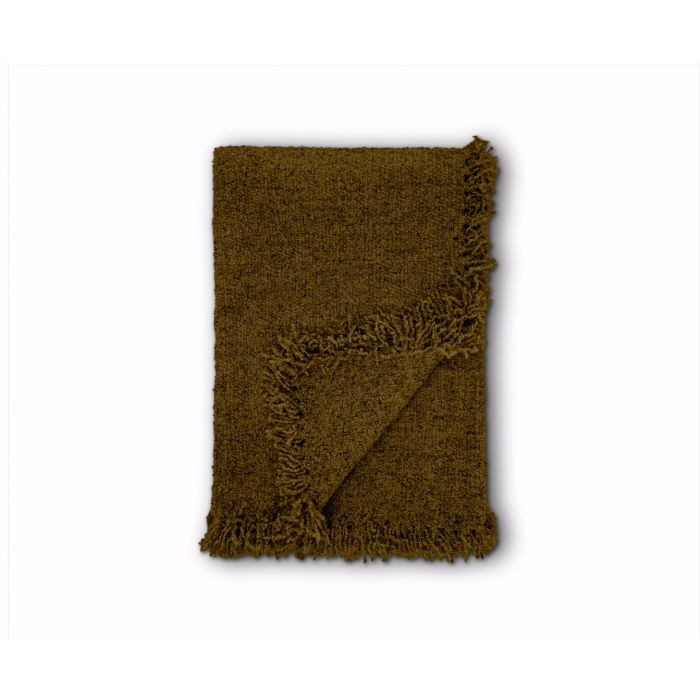 Boucle Throw Khaki