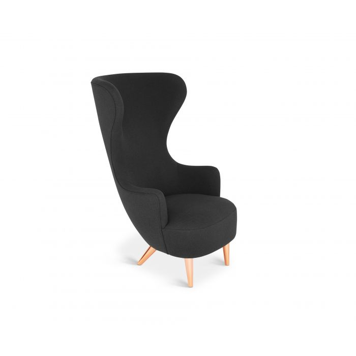 Wingback Chair Copper Leg Hallingdal 65