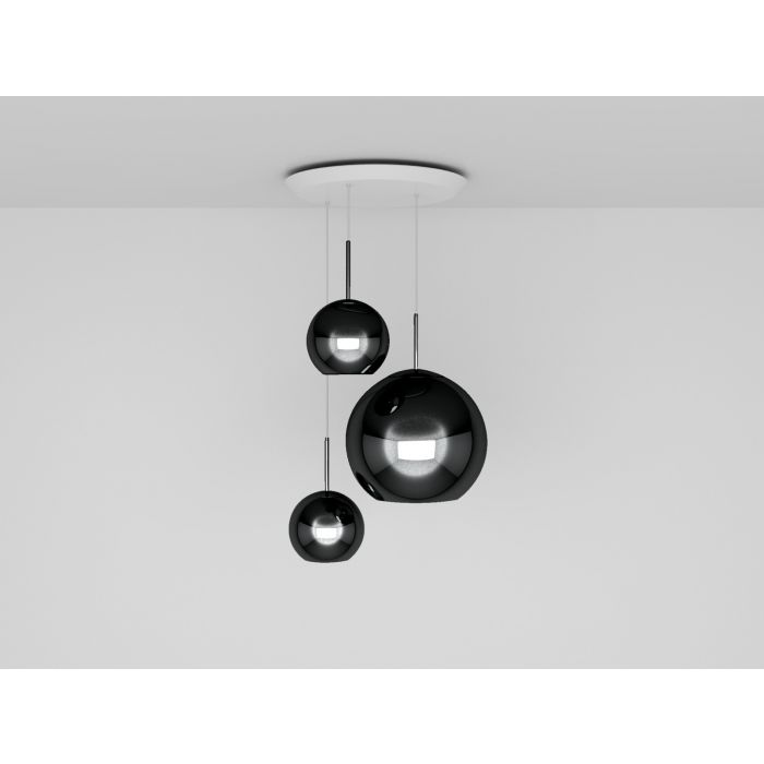 Copper Black Trio Round Pendant System