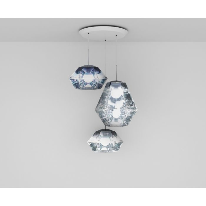 Cut Mix Trio Round Pendant System
