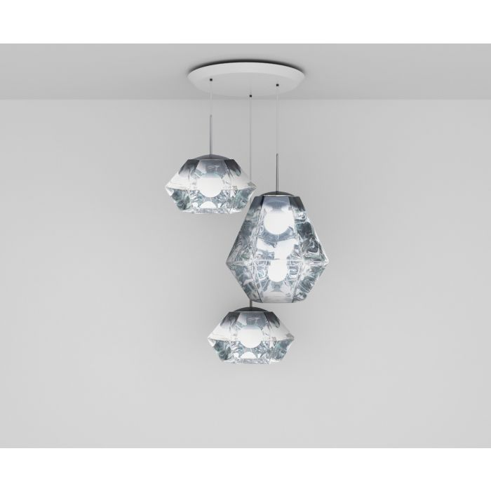 Cut Chrome Trio Round Pendant System