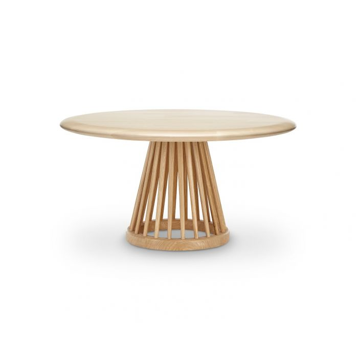 Fan Table Natural Base Natural Birch Top 900mm