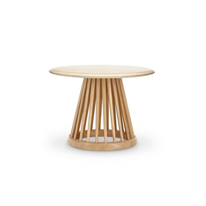 Fan Table Natural Base Natural Birch Top 600mm