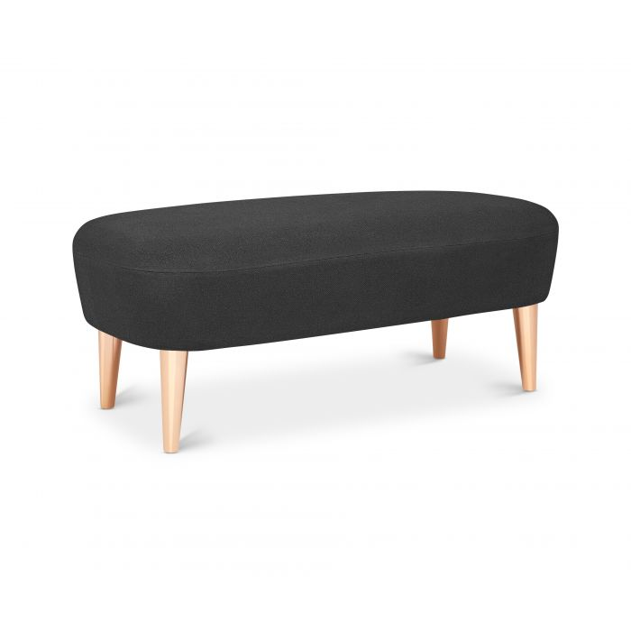Wingback Long Ottoman Copper Leg Hallingdal 65