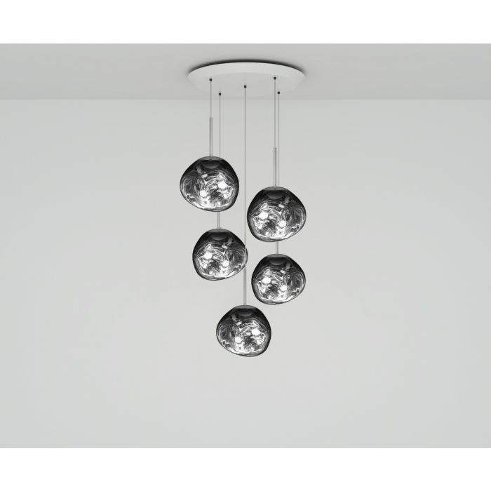Melt Mini LED Chrome Round Pendant System