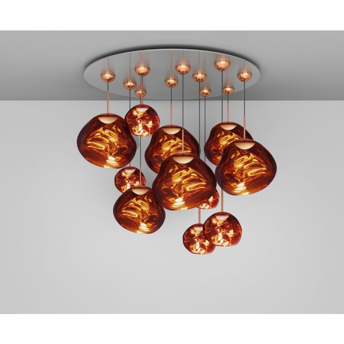Melt LED Copper Mega Pendant System