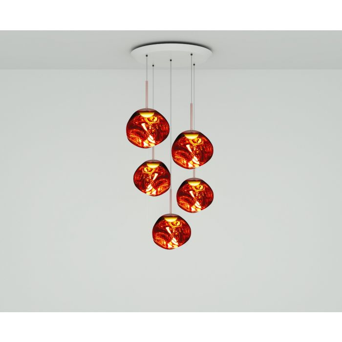 Melt Mini LED Copper Round Pendant System