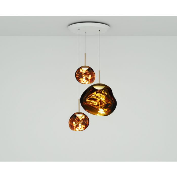 Melt LED Gold Trio Round Pendant System