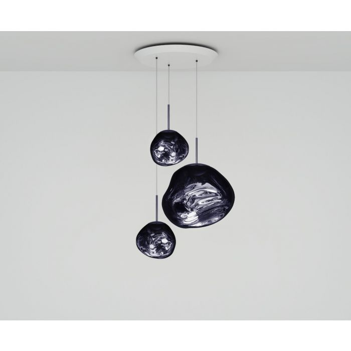 Melt LED Smoke Trio Round Pendant System