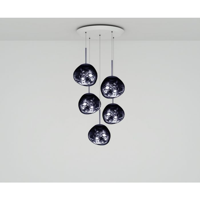 Melt Mini LED Smoke Round Pendant System