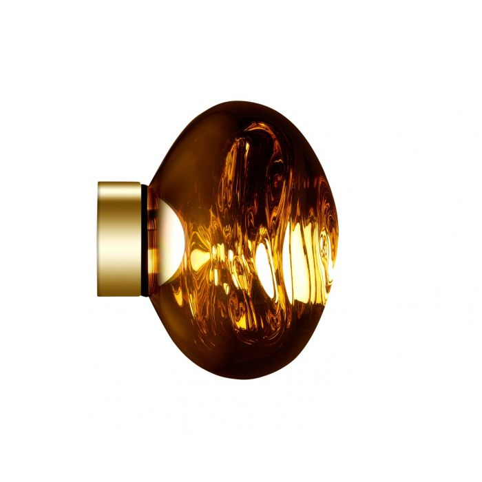 Wandleuchte Melt Mini Gold LED
