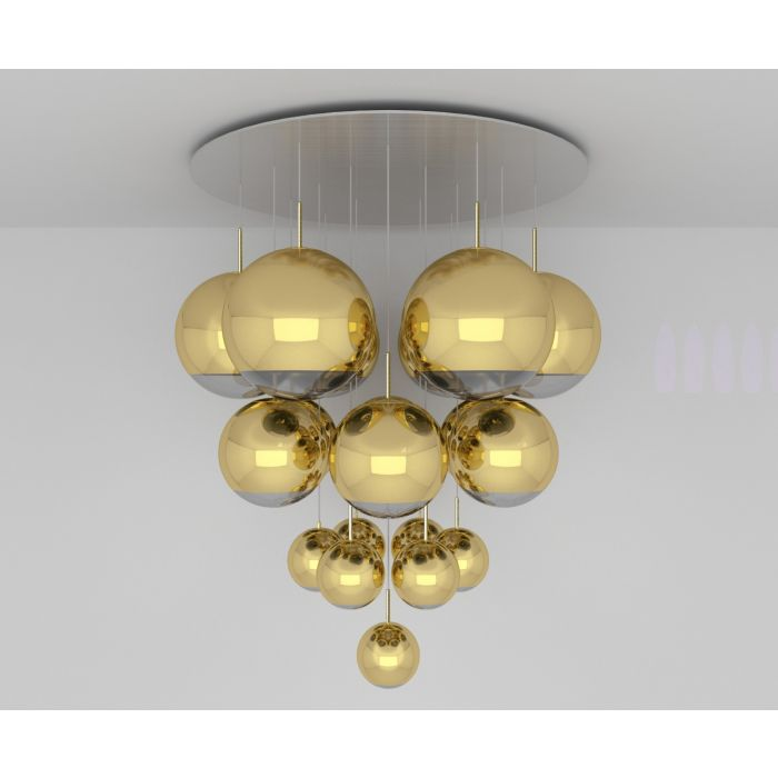 Mirror Ball Gold Mega Pendant System