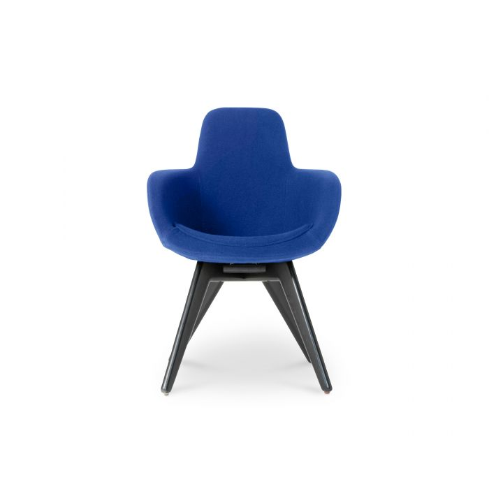 Scoop Chair High Back Black Leg Tonus 4