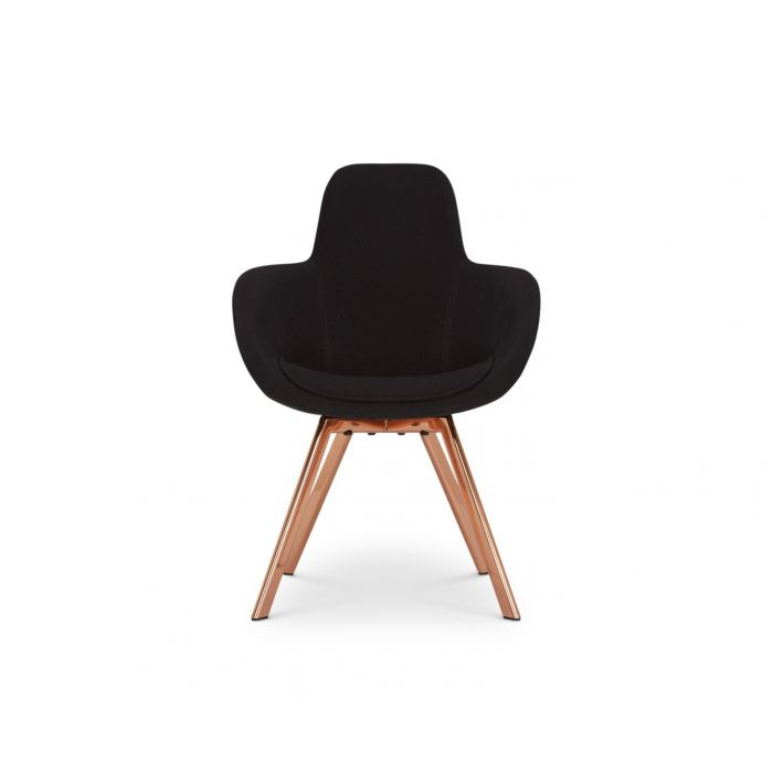 Scoop Chair High Back Copper Leg Tonus 4