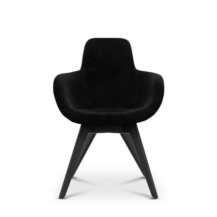 Scoop Chair High Back Black Leg Cassia 09