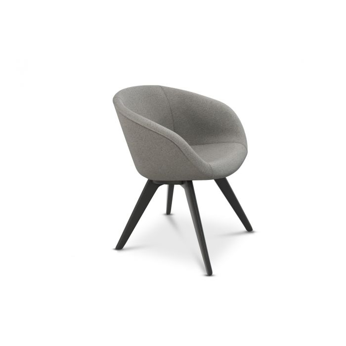 Scoop Chair Low Back Wool