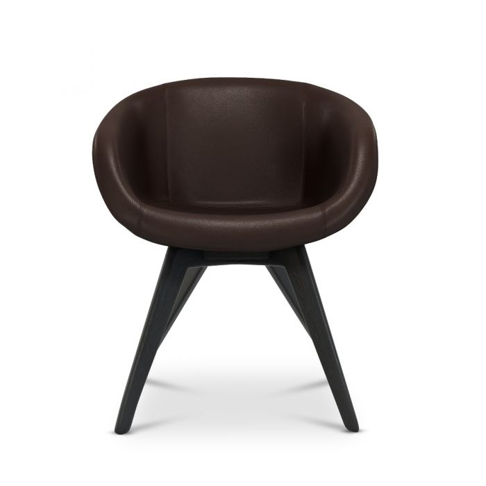 Scoop Chair Low Back Leather