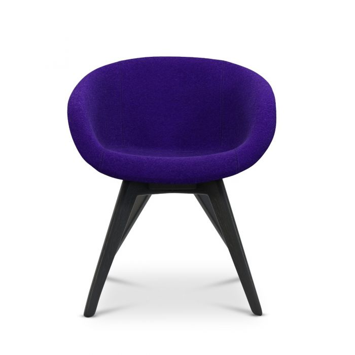 Scoop Chair Low Back Black Leg Tonus 4