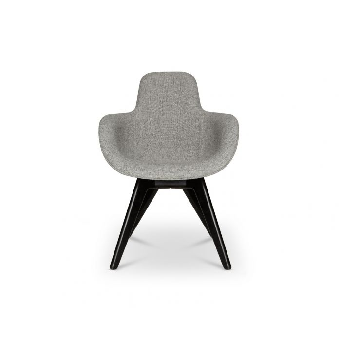 Scoop Chair High Back Black Leg Hallingdal 65