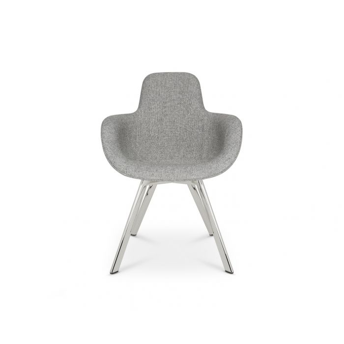Scoop Chair High Back Chrome Leg Hallingdal 65