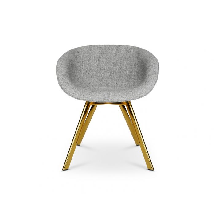 Scoop Chair Low Back Brass Leg Hallingdal 65