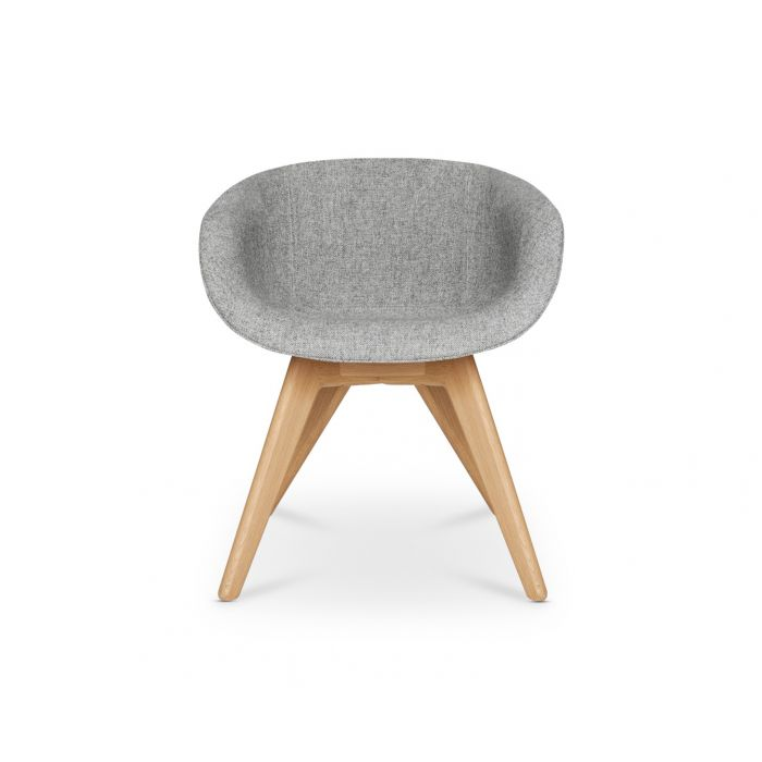 Scoop Chair Low Back Natural Leg Hallingdal 65