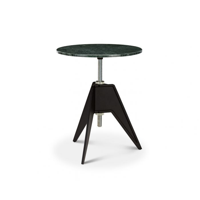 Screw Cafe Table Green Marble Top 600mm