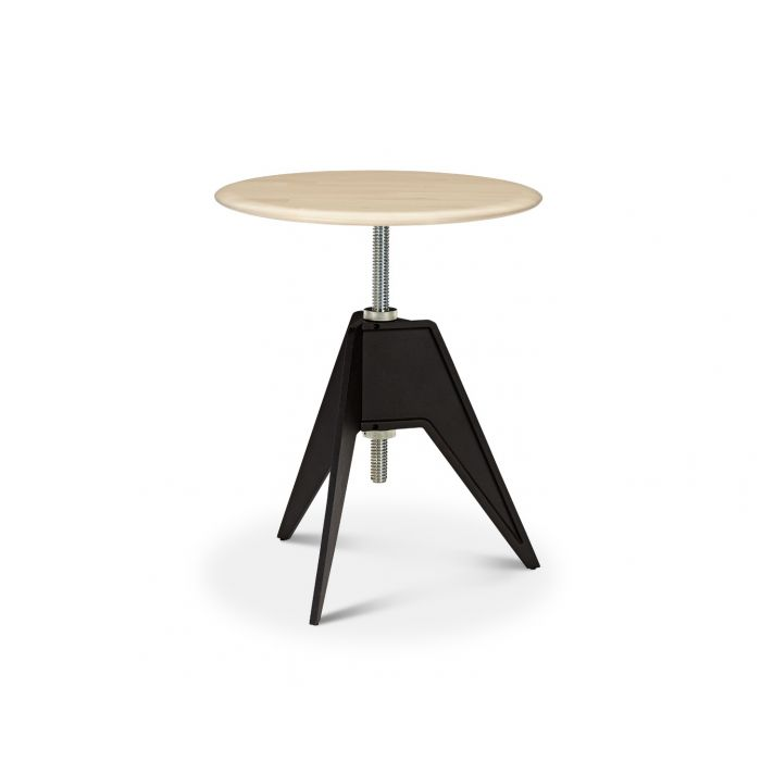 Screw Cafe Table Natural Birch Top 600mm