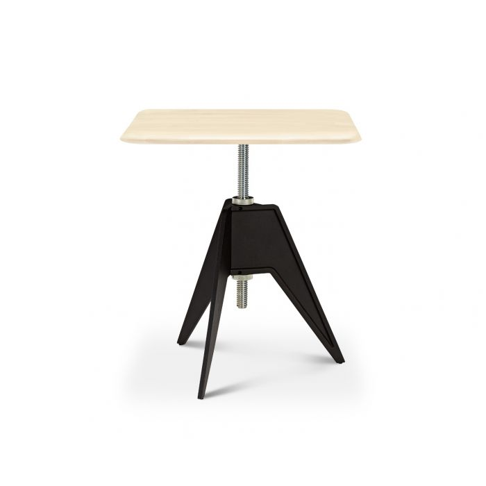 Screw Cafe Table Natural Birch Top 650mm