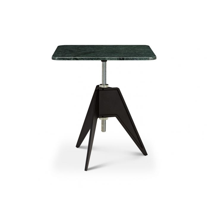 Screw Cafe Table Green Marble Top 650mm