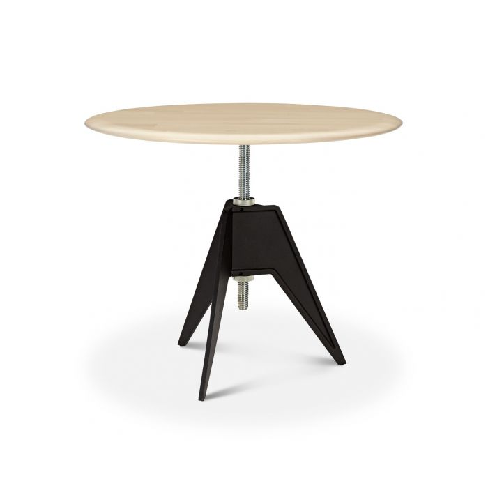 Screw Cafe Table Natural Birch Top 900mm