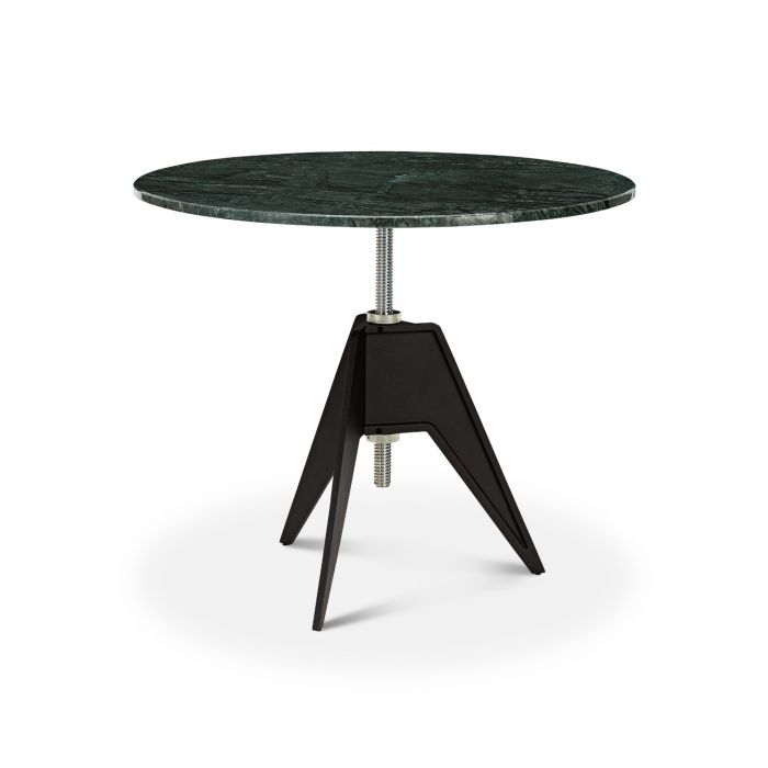 Screw Cafe Table Green Marble Top 900mm