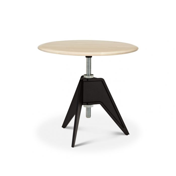 Screw Side Table Natural Birch Top 600mm