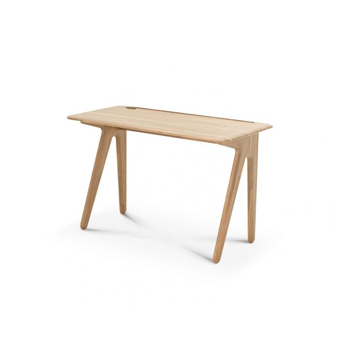 Slab Individual Desk Small Natural Oak