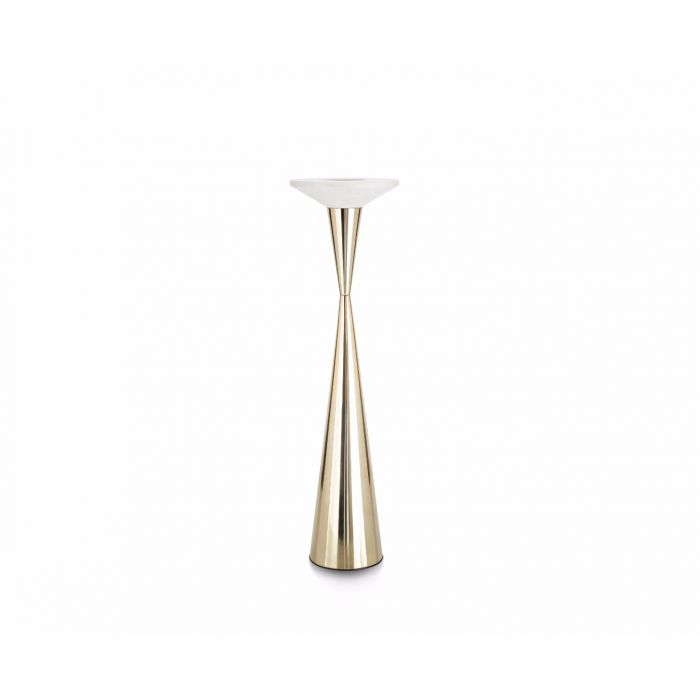 Stone Candle Holder Floor Brass