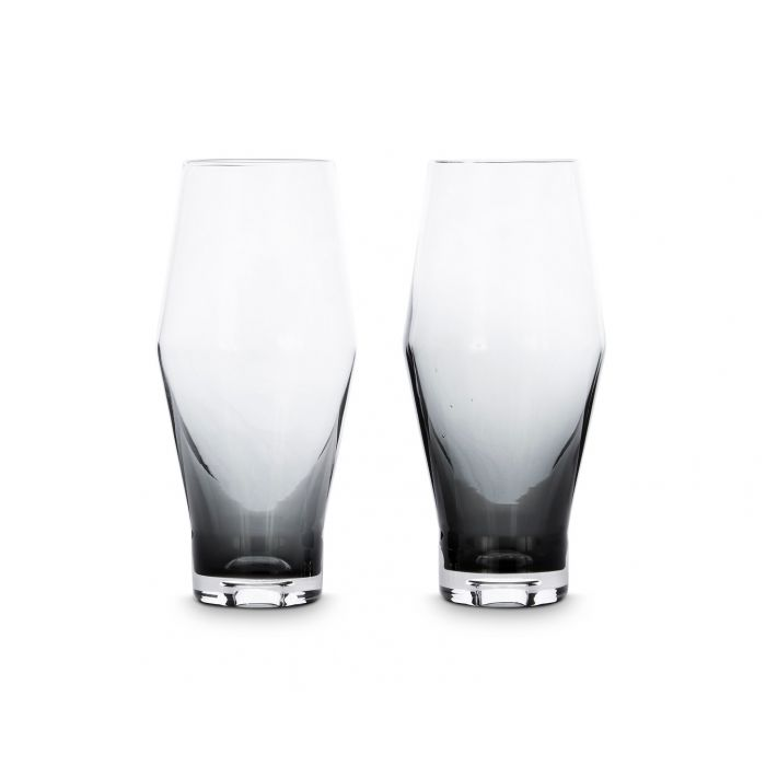 Tank Beer Glasses Black x2