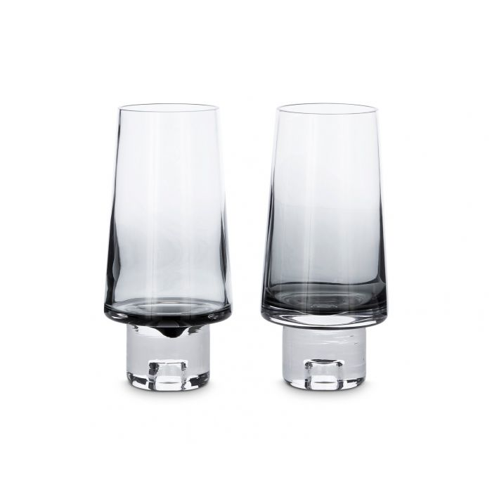 Tank High Ball Glasses Black x2