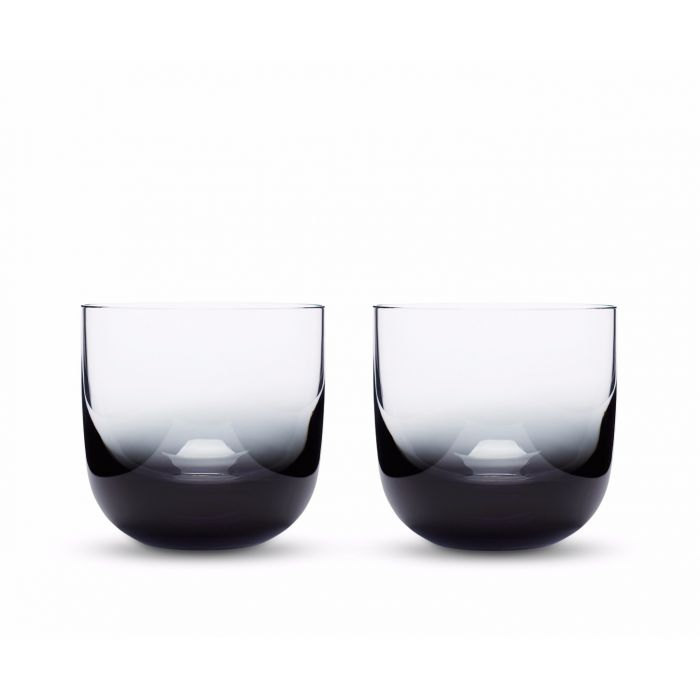 Tank Whiskey Glasses Black x2