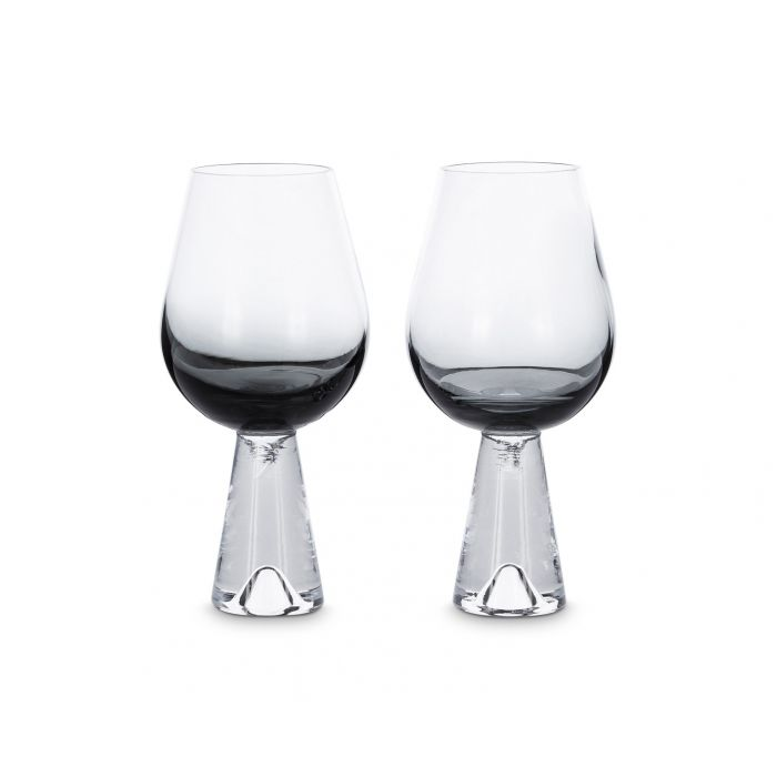 Tank Wine Glasses Black x2