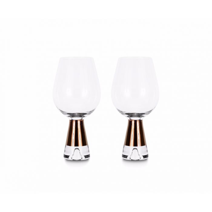 Tank Wine Glasses Copper x2