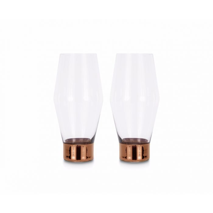 Tank Beer Glasses Copper x2