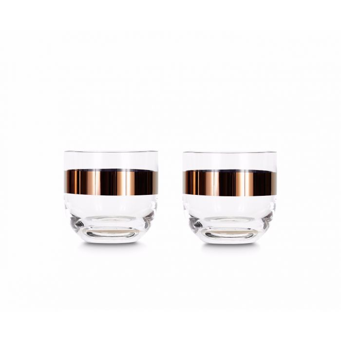 Tank Whiskey Glasses Copper x2