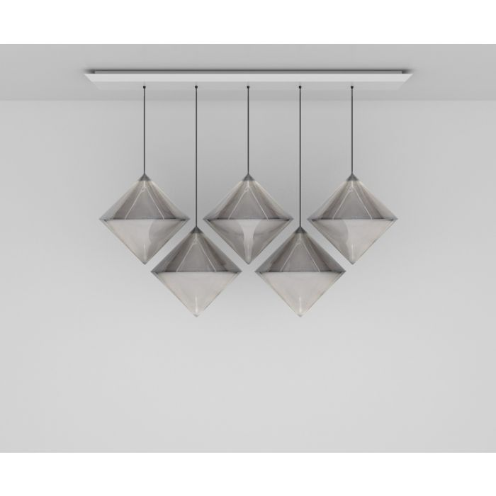 Top Silver Linear Pendant System