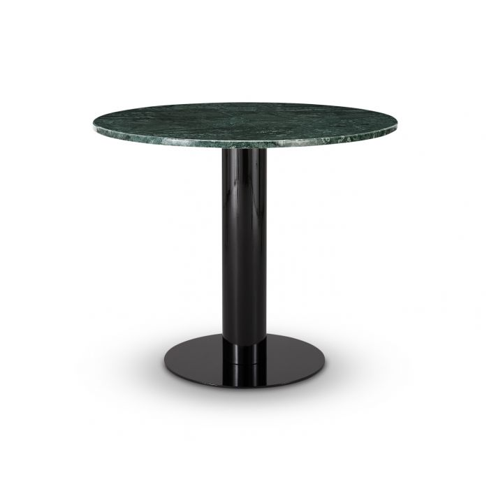Tube Dining Table Green Marble Top 900mm